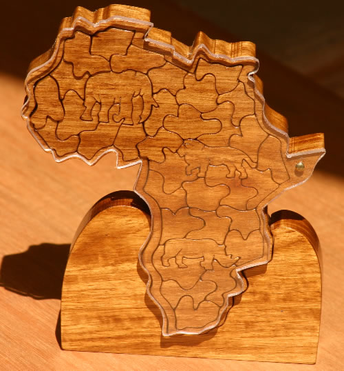 Unique Hand Made African Theme Puzzles